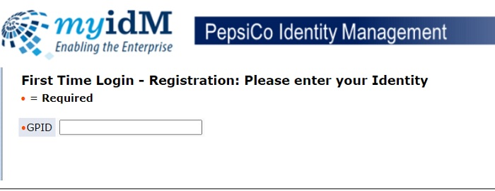 PepsiCo SSO Registration